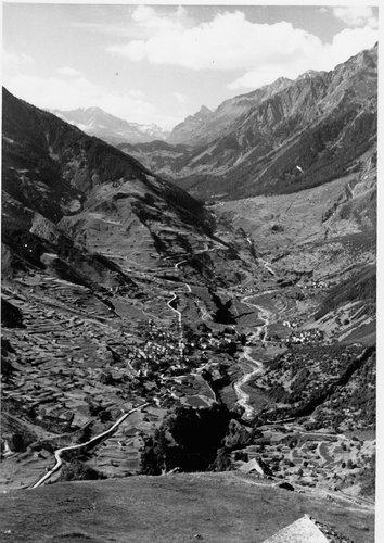 Mesocco dall' Alpe Gumegna