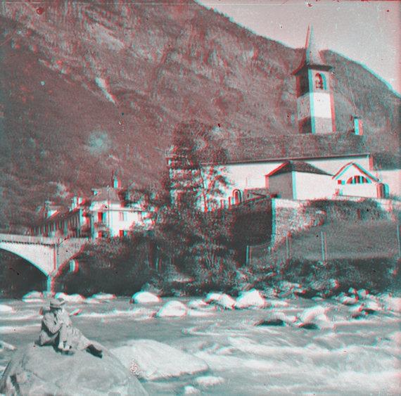 Bignasco - Chiesa S. Michele  stereofoto (anaglifo)