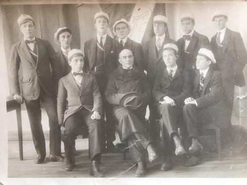 Studenti Bellinzona Scuola di commercio 1918