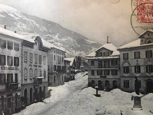 Faido, Piazza Stefano Franscini inizi '900
