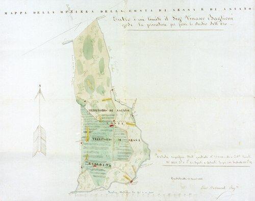 Mappa della miniera di Sessa e Astano