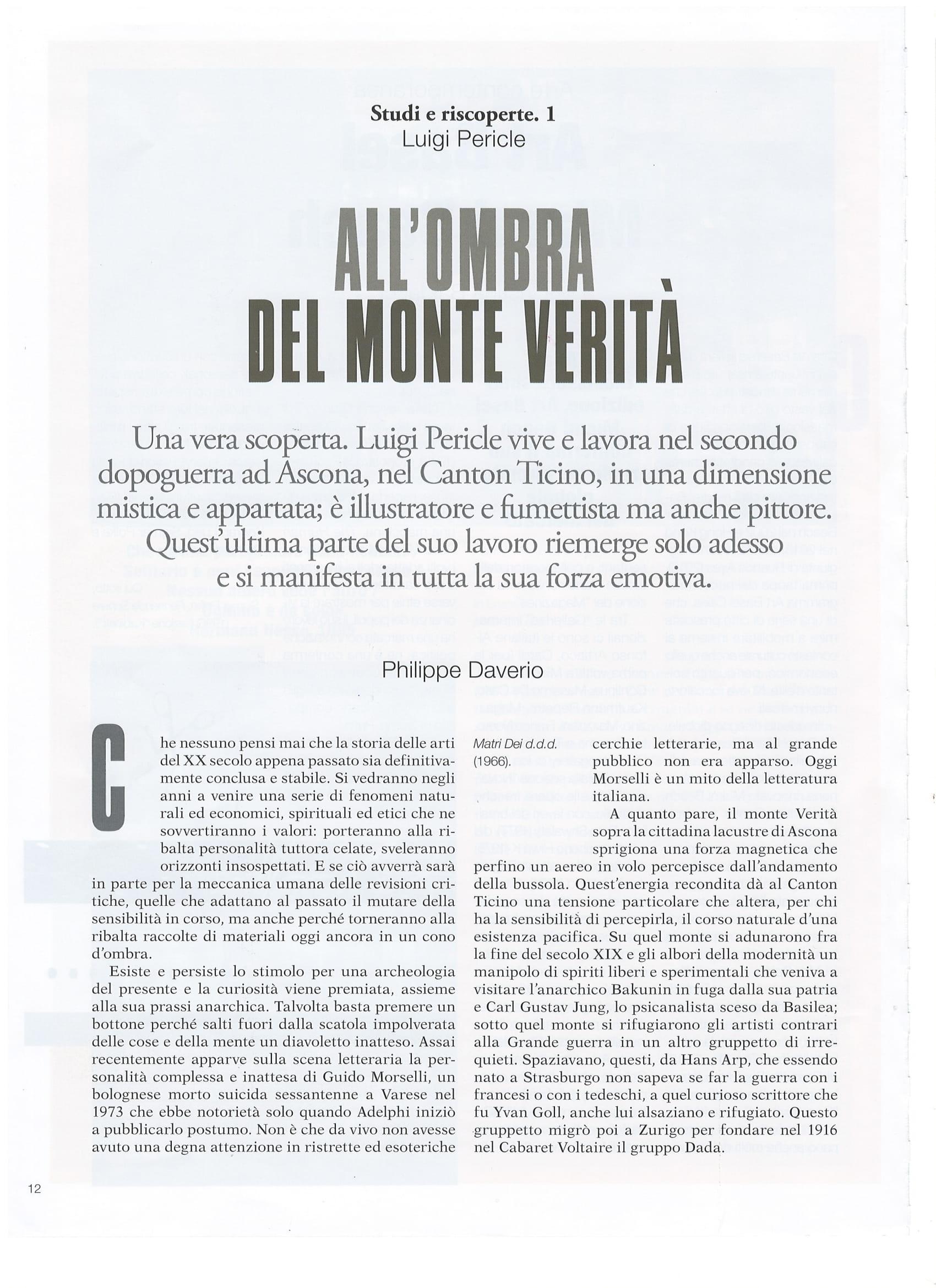 All'ombra del Monte Verità, Luigi Pericle. Philippe Daverio