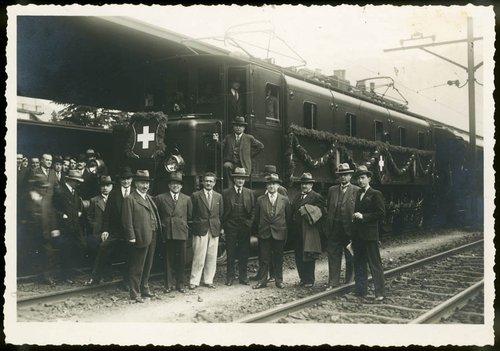 Inaugurazione della linea elettrica Bellinzona-Locarno