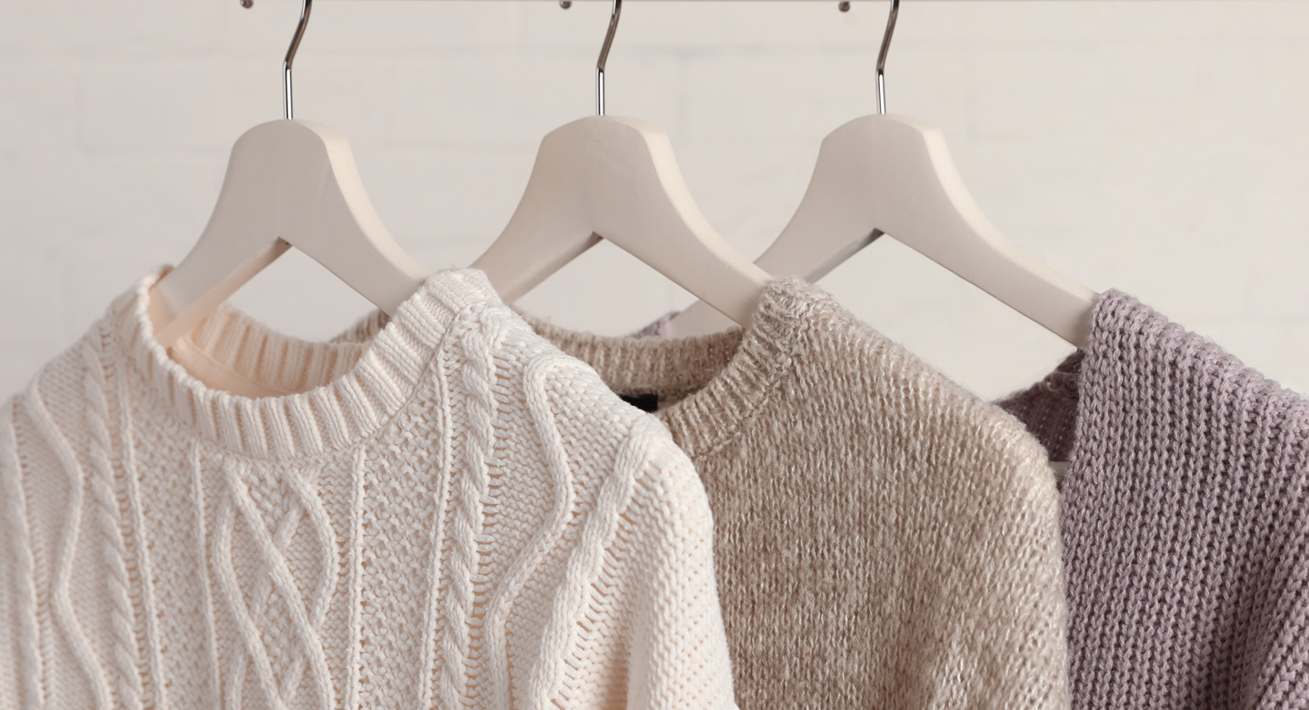 Get any three knitwear items for one great price. Includes jumpers, cardigans, heavy and light knitwear.