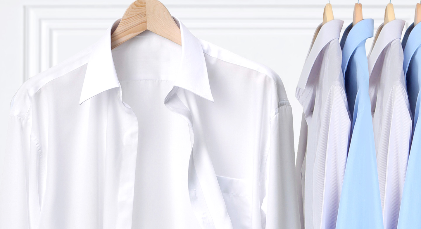 All the shirts you need for a working week, washed, ironed and hung to ensure you always look your best.