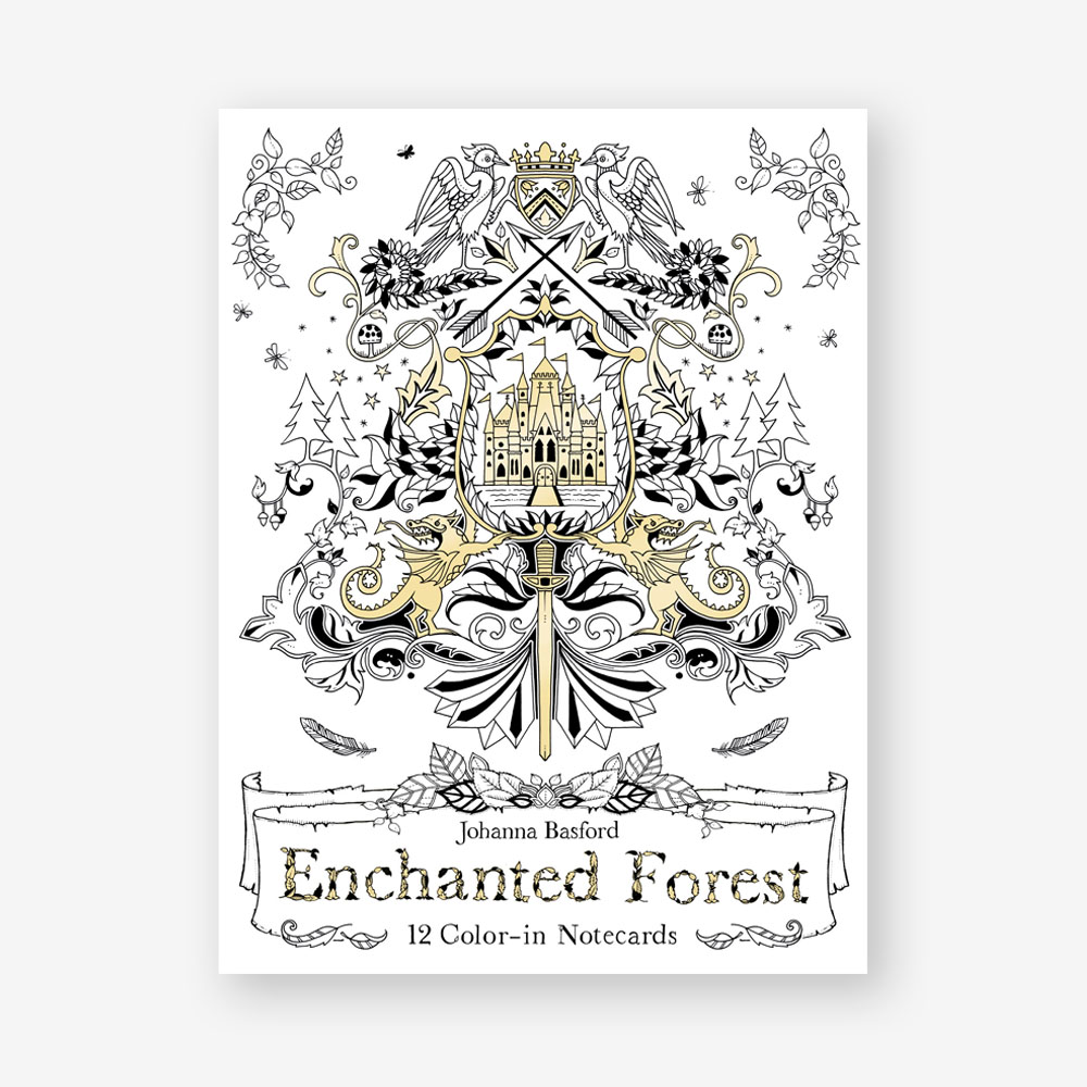 Enchanted Forest 12 Color In Notecards