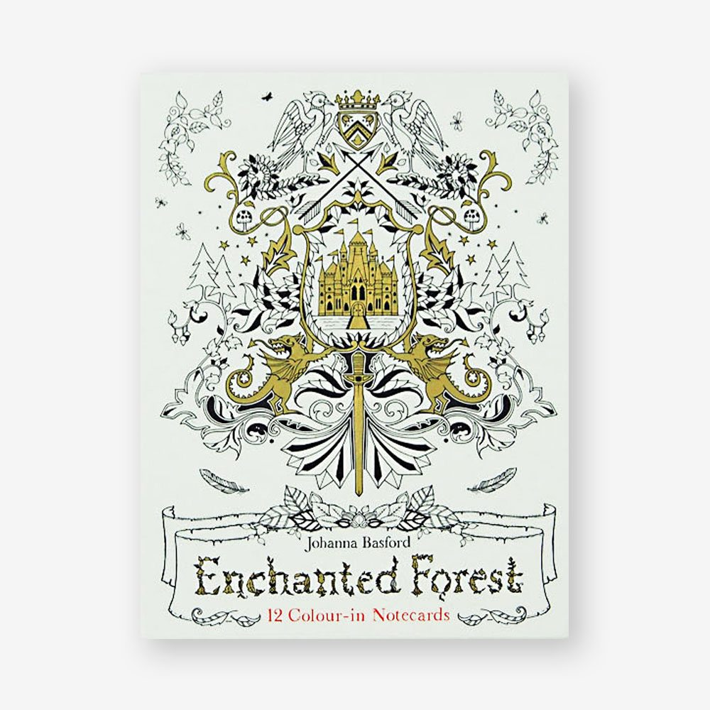 Enchanted Forest 12 Colour In Notecards