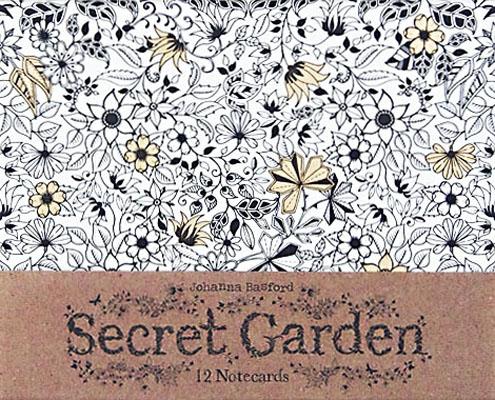 Secret Garden 12 Notecards Johanna Basford
