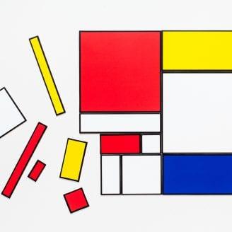 Make Your Own Mondrian Modern Art Puzzle