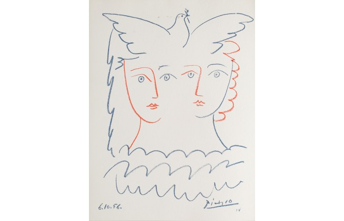 lithographie picasso colombe
