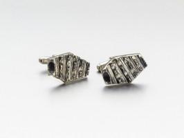 """Pereche de butoni """"Monolith - Reframe"""", semnați David Sandu, serie limitată, argint 925"""