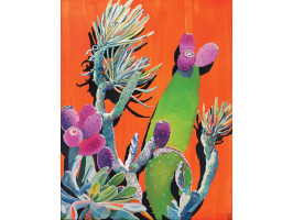 Cactuses on Fluorescent Orange