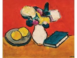 Still Life with Flowers, Lemons and Book (Natură Statică cu Flori, Lămâi și Carte)