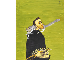 Man with Cat and Pheasant (Bărbat cu pisică și fazan)
