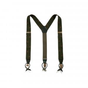 Bretele SARTO, din piele, cu clipsuri metalice