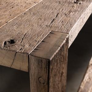 Garnitură din stejar, formată din masă și două scaune, Buha Wood Design