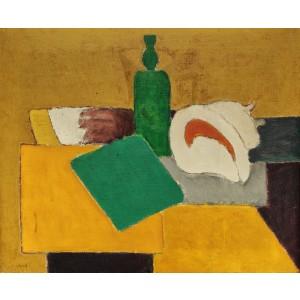 Still Life with Shell and Green Bottle (Natură Statică cu Scoică si Sticlă Verde)