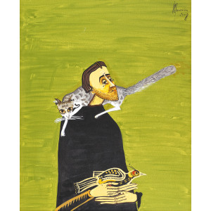 Man with Cat and Pheasant (Bărbat cu pisică și fazan)