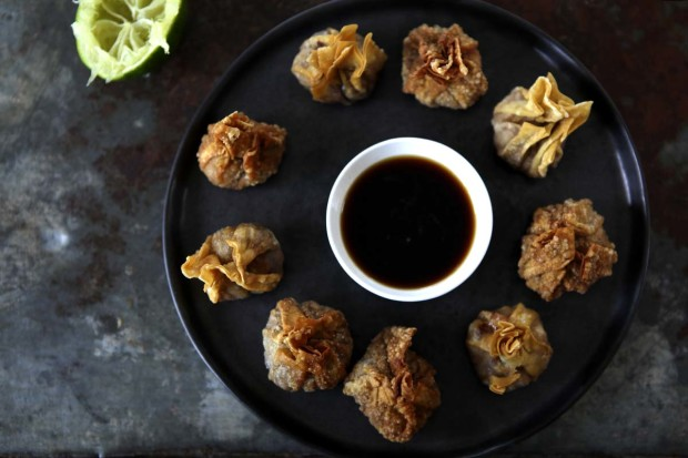 Frittierte Wan-Tan mit Crevetten