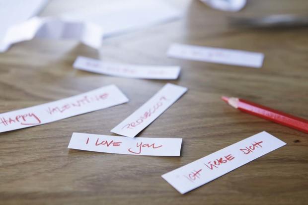 Liebesbotschaften für Glückskekse