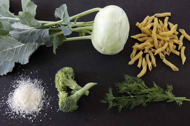 Zutaten für Kohlrabi-Broccoli-One Pot Pasta