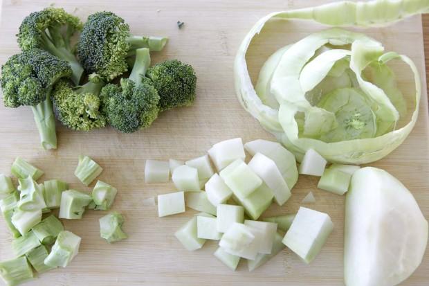 Kohlrabi und Broccoli
