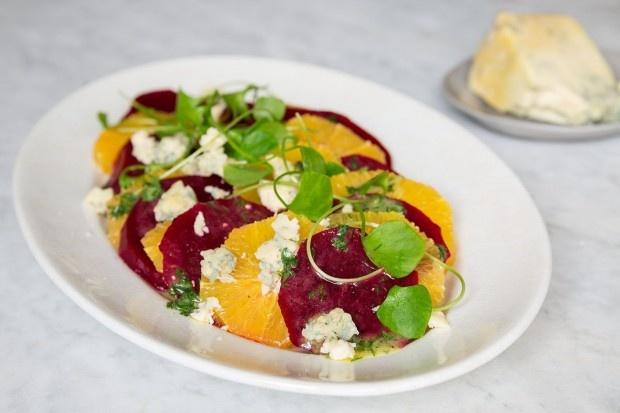 Randen-Orangen-Salat mit Stilton