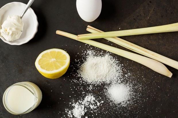 Zutaten für Zitronengras-Kokos-Cake
