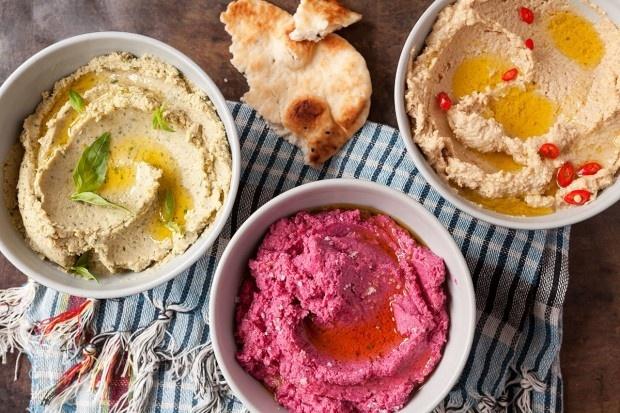 Hummus mit drei Aromen