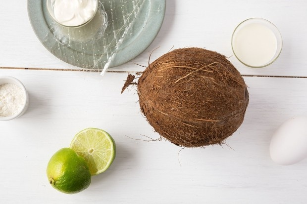 Zutaten für Kokos-Creme-Kuchen
