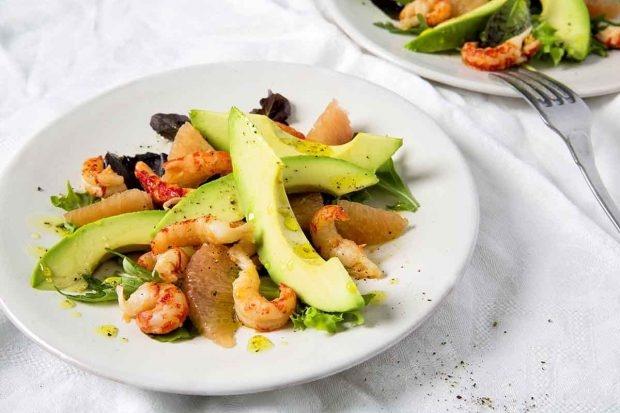 Krebs-Avocado-Salat mit Verjus