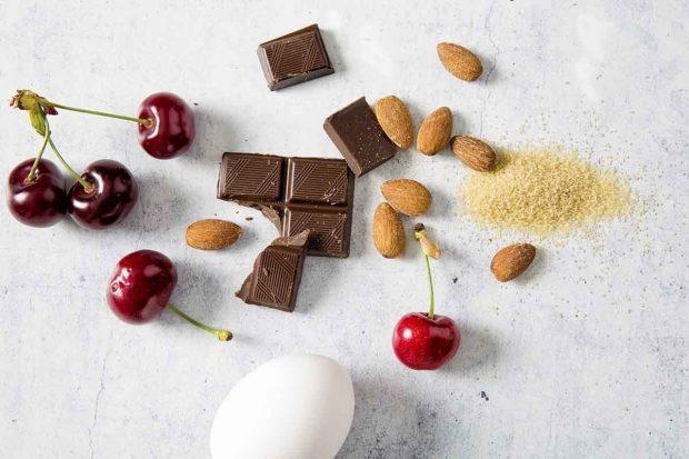 Zutaten für Kirschen-Brownie