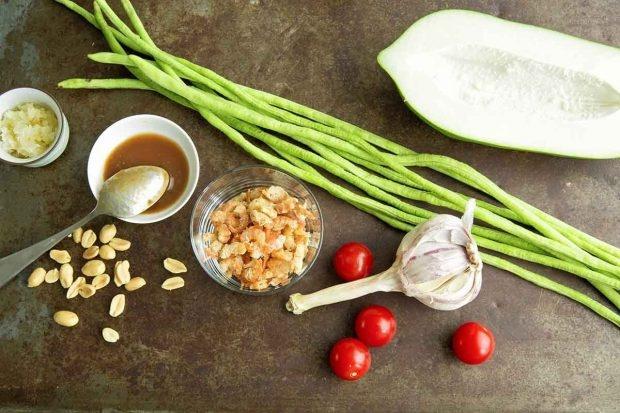 Zutaten für Papayasalat