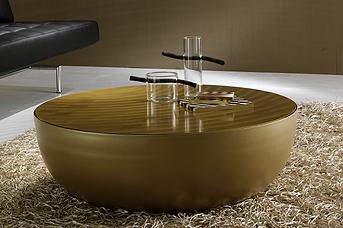 Italienisches accessoires wohnen for Couchtisch gold