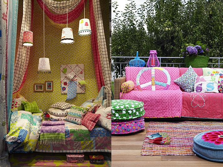 kunterbunte hippietr ume wohnen. Black Bedroom Furniture Sets. Home Design Ideas