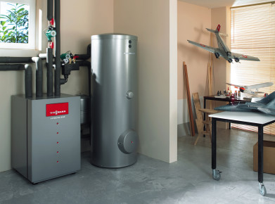 Once a heat pump is installed, it needs only a minimum amount of monitoring and maintenance (photo: FWS).