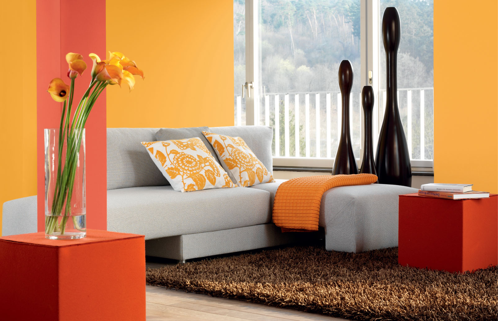 gelb in r umen wohnen. Black Bedroom Furniture Sets. Home Design Ideas