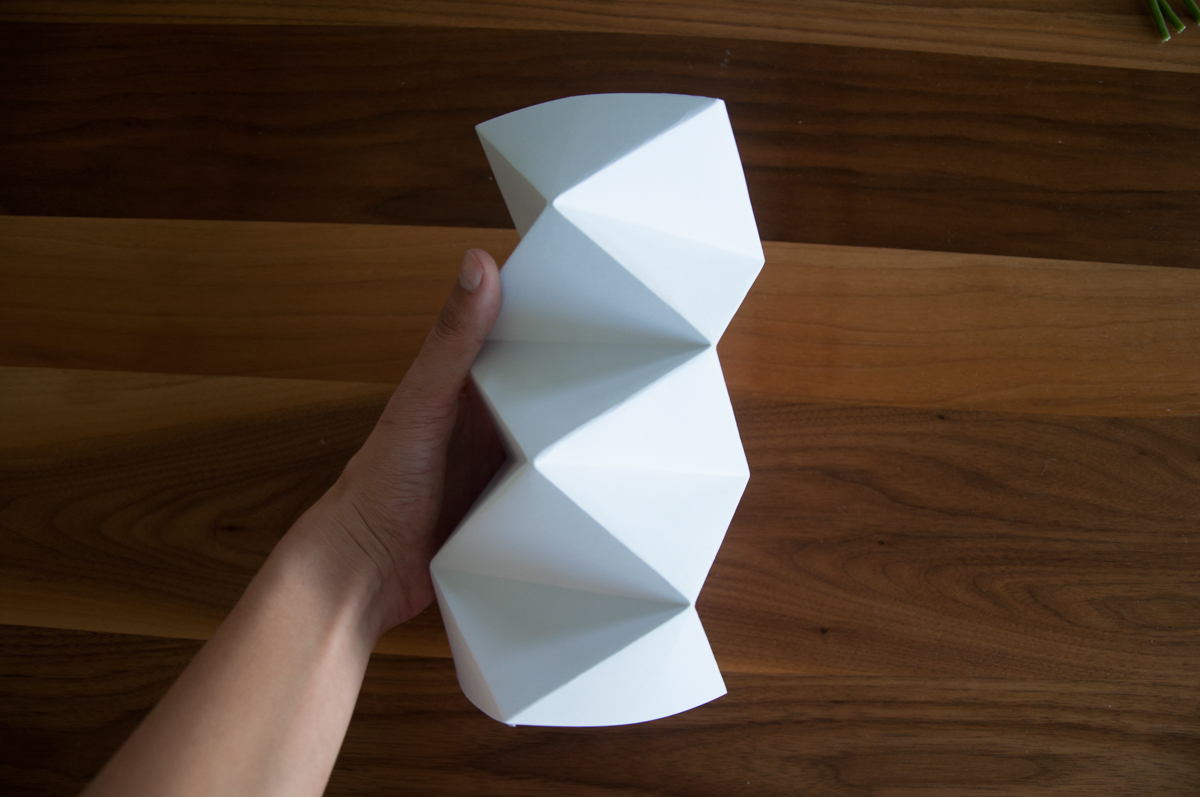 Brief Falten Trick : Origami vase falten do it yourself homegate