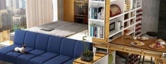 Symbolbild: Small Space Living IKEA (Quelle: slimpro.co)