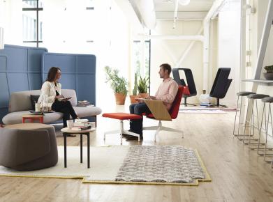 Büro: Ich bin auch ein Wohnraum (Bild Haworth Schweiz AG Openest)