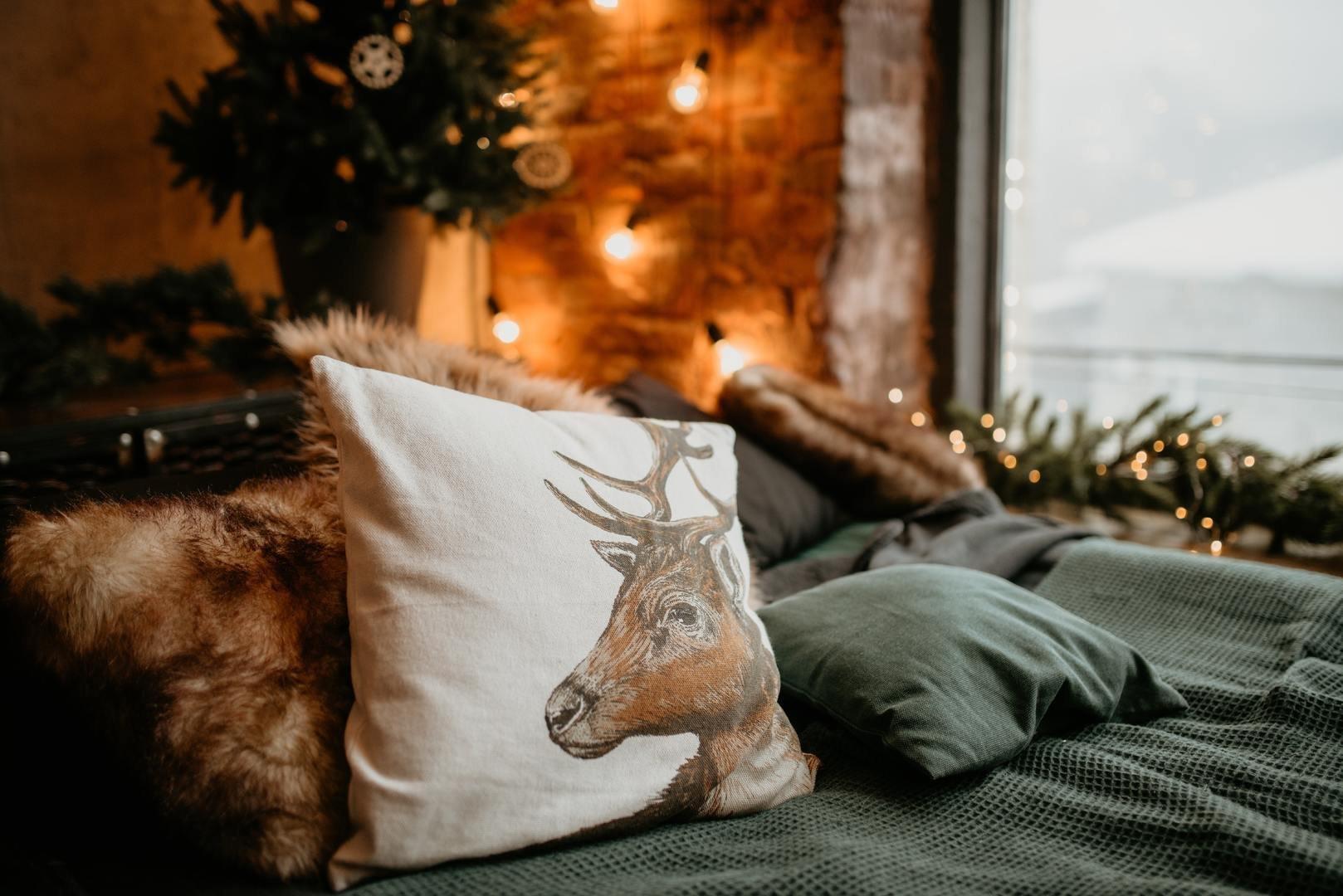 Weihnachtliche Kissen
