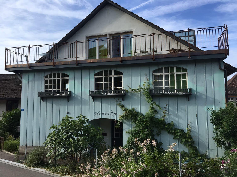 romantisches Haus mit Cheminée
