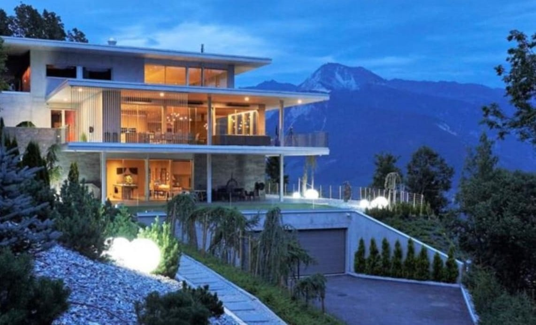 stunning villa in the swiss alps