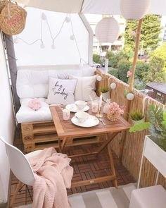 Gute Planung und Fantasie verhelfen zum Traum-Balkon (Bild: Pinterest)