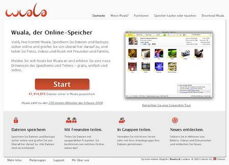 Dem Web 2.0-Unternehmen Wuala...