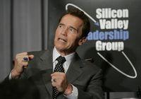 Goubernator Schwarzenegger im Silicon Valley (keystone)