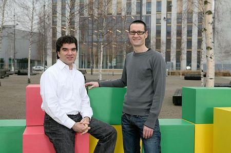 Paul Sevinç und Michael Näf, Gründer von Doodle.com: Grün für Ja, rot für Nein und Gelb für Ja, aber lieber ein andermal... (Bild zvg)