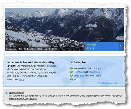 autofreieorte.com: Einzigartige Anlaufstelle für nachhaltige Urlauber.