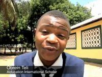Obrein Teli, Stipendiat von Aiducation International