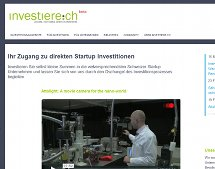 investiere.ch: Startup-Investitionen auch mit kleinen Summen